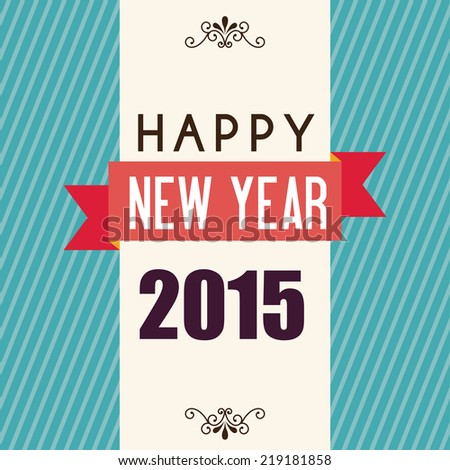 happy new year graphic design , vector illustration