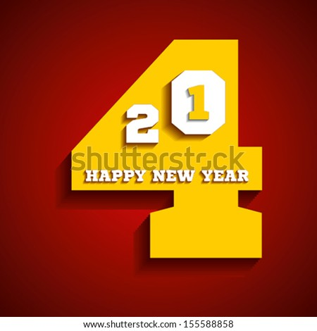 happy new year 2014 greeting background vector