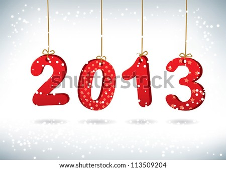 Happy New Year 2013 greeting card - stock vector