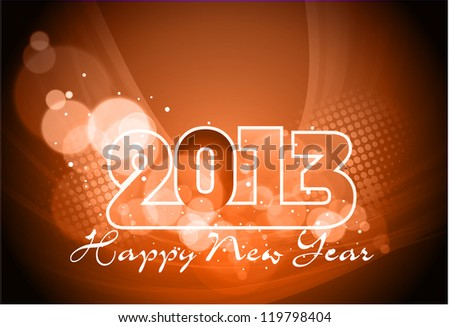 Happy New Year greeting card 2013 . EPS 10.
