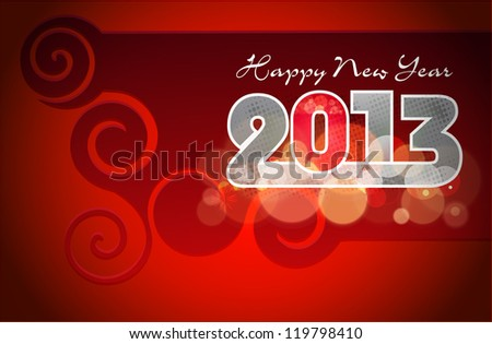 Happy New Year greeting card 2013 . EPS 10. - stock vector