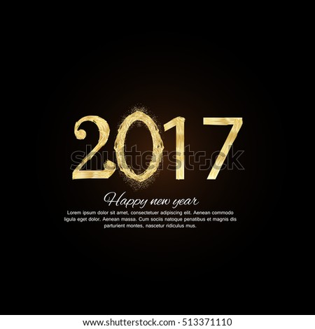 Happy New Year greeting card, Happy new year 2017.