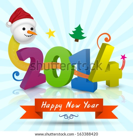 Happy new year greeting card / lettering