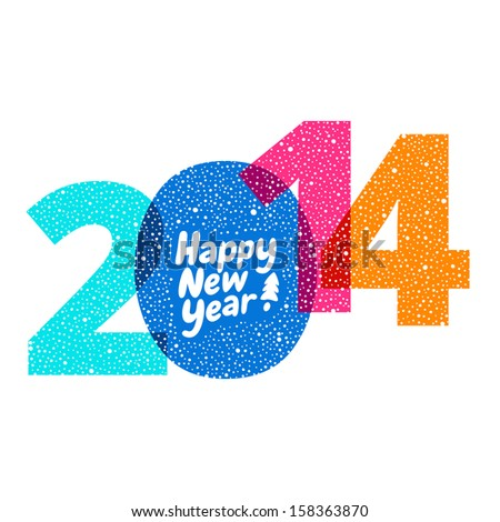 Happy new year greeting card with numbers