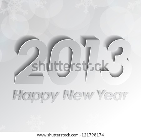 Happy New Year 2013 grey background eps10 - stock vector