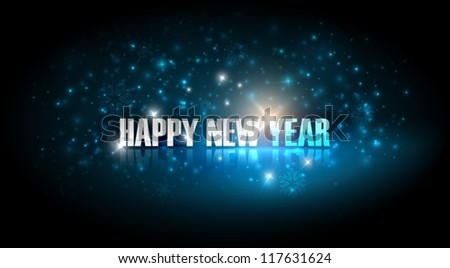 happy new year. holiday background - stock vector