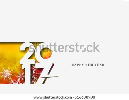 Happy 2017 New Year Holiday design elements for cards, for decorations Vector Illustration background