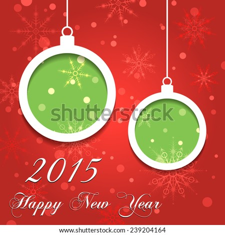 Happy New Year 2015 illustration for holiday design, party poster, greeting card