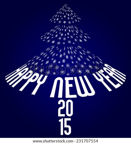 happy new year 2015 illustration on dark blue background - stock vector