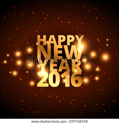 happy new year in golden style - stock vector