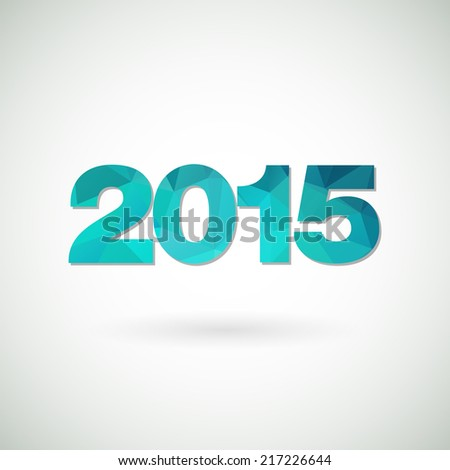 Happy new 2015 year. Invitation card. Vector illustration.