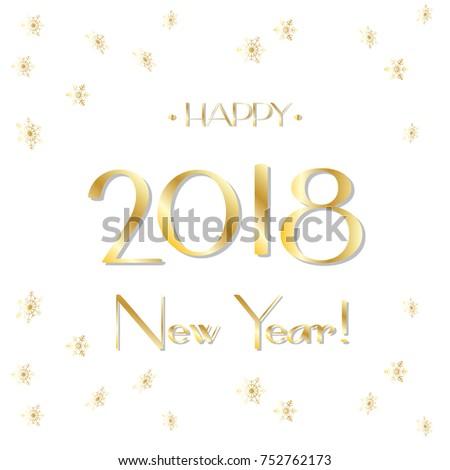 Happy New Year 2018 Luxury Greeting Stock Vector 752762173 ...