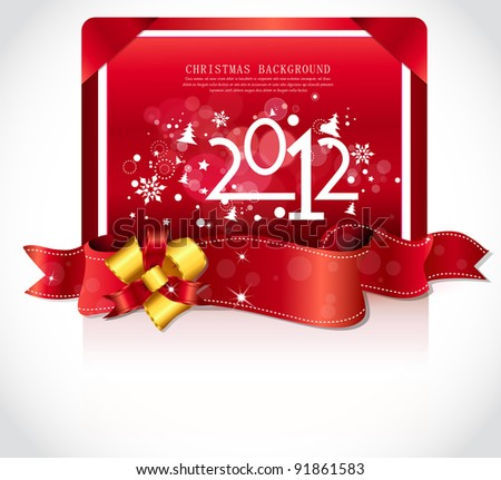 Happy new year 2012! New year design template. - stock vector