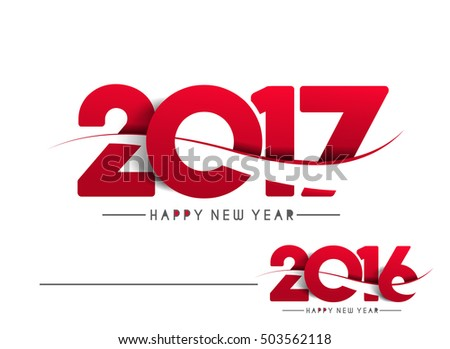 Happy new year 2017 & 2016 - New Year Holiday design elements for holiday cards, for decorations Vector Illustration background