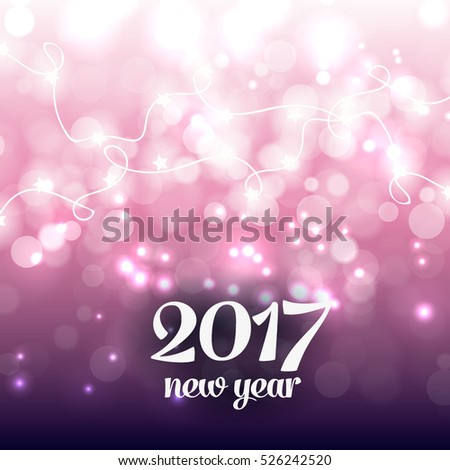 Happy new year party invitation card stock vector 526242499 happy new year party invitation card party poster holiday design template snowflake lights glowing lights stopboris Choice Image