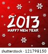 Happy New Year 2013 snowflakes wallpaper eps10 - stock photo