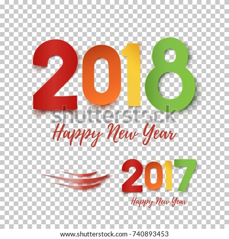 Happy new year 2017 2018 template stock photo photo vector happy new year 2017 2018 template for poster brochure greeting card or fleyr voltagebd Gallery