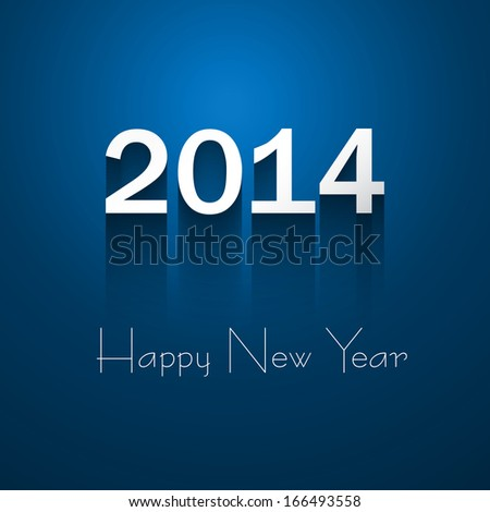 Happy New Year 2014 text beautiful colorful background