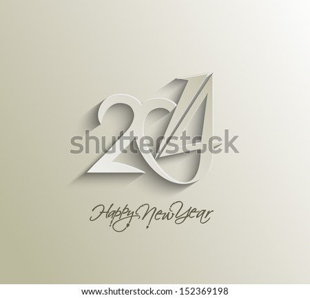 Happy new year 2014 text design. - stock vector