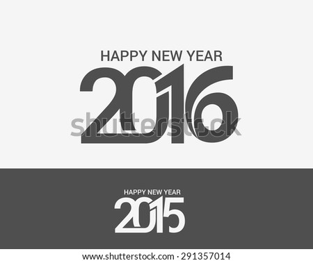 Happy new year 2016 & 2015 Text Design - stock vector