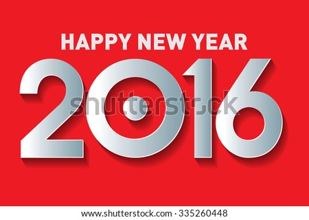 Happy new year 2016 Text Design  - stock vector