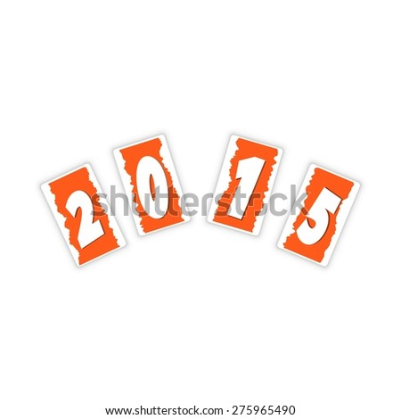 Happy new year 2015 text design background with long shadow. Vector eps 10 - stock vector