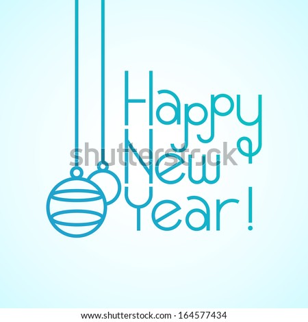 Happy New Year Typography Composition - stock vector