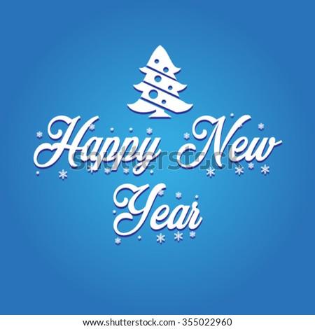 Happy New 2016 Year vector - stock vector