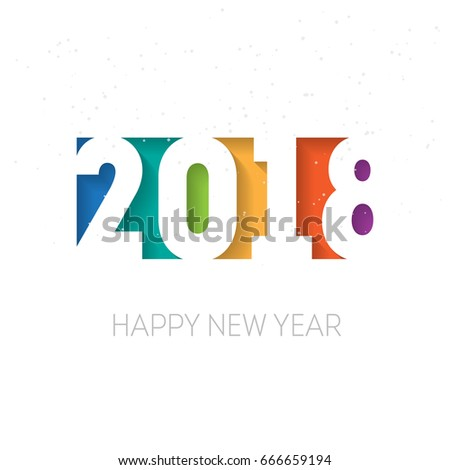 Happy new year 2018 vector background. Vector brochure design template. Cover of business diary for 2018 with wishes