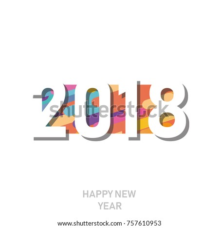 Happy new year 2018 vector background stock photo photo vector happy new year 2018 vector background vector brochure design template cover of business diary voltagebd Images