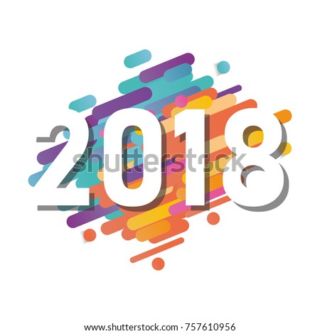 Happy new year 2018 vector background stock vector 757610956 happy new year 2018 vector background vector brochure design template cover of business diary voltagebd Images