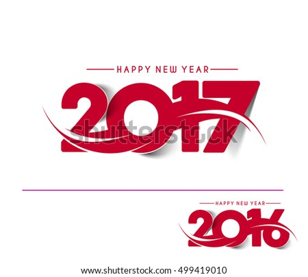 Happy new year 2017 & 2016 Vector Design Background