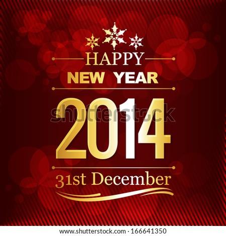 Happy new year vector design illustration - stock vector