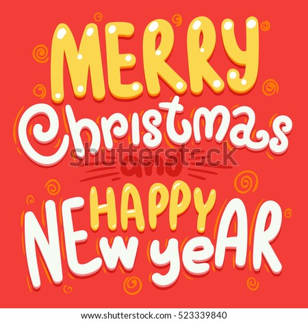 Happy new year vector greeting card stock photo photo vector happy new year vector greeting card typography cartoon lettering christmas design postcard holiday congratulations m4hsunfo