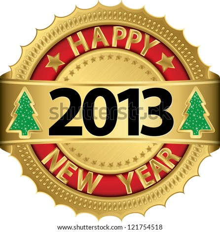 Happy new 2013 year, vector illustration - stock vector