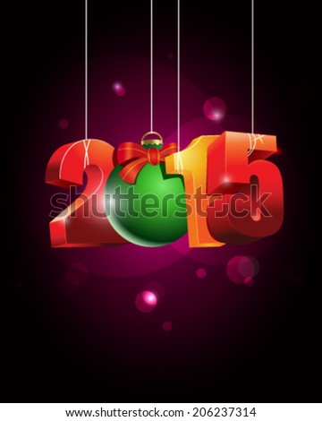 Happy New Year, vector illustration - stock vector