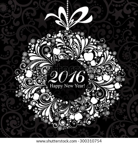 Happy new year 2016. Vector Illustration  - stock vector