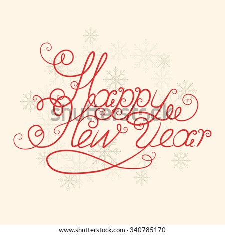 Happy new year.Vector illustration - stock vector