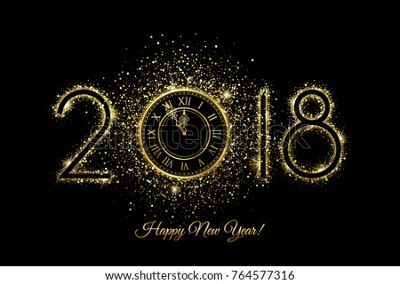 Happy New Year 2018 Vector New Stock-Vektorgrafik 764577316 ...