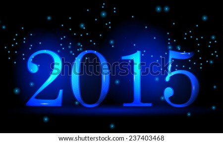 Happy new year 2015, Vector Text Design