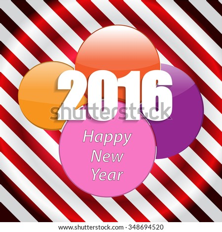 Happy New Year 2016 Vector Wallpaper Design