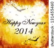 Happy new year 2014 Vintage style - stock vector
