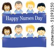 Happy Nurses Day Multi-Ethnic - stock vector
