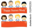Happy Nurses Week Multi-Ethnic - stock vector