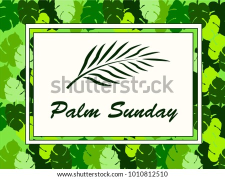 happy palm sunday holy week before stock vector 1010812510