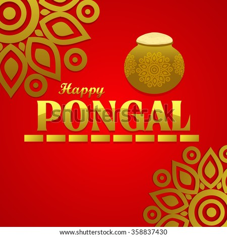 Happy pongal festival design decorated greeting stock vector hd happy pongal festival design decorated greeting card for south indian harvesting festival m4hsunfo
