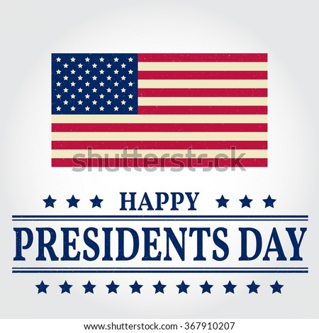 Happy Presidents Day greating card. Vector illustration.