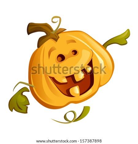 Happy Pumpkin (Vector) - stock vector