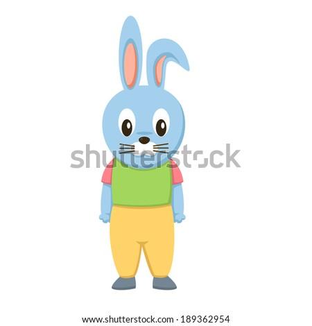 Happy rabbit vector - stock vector