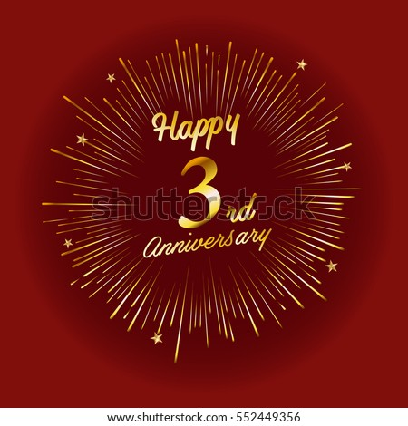 happy 3rd anniversary cards